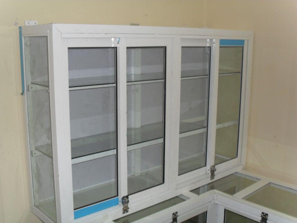 Un présentoir Mural en aluminium vitré  dahaboocom -> Bibliothèque En Vitre Aluminium